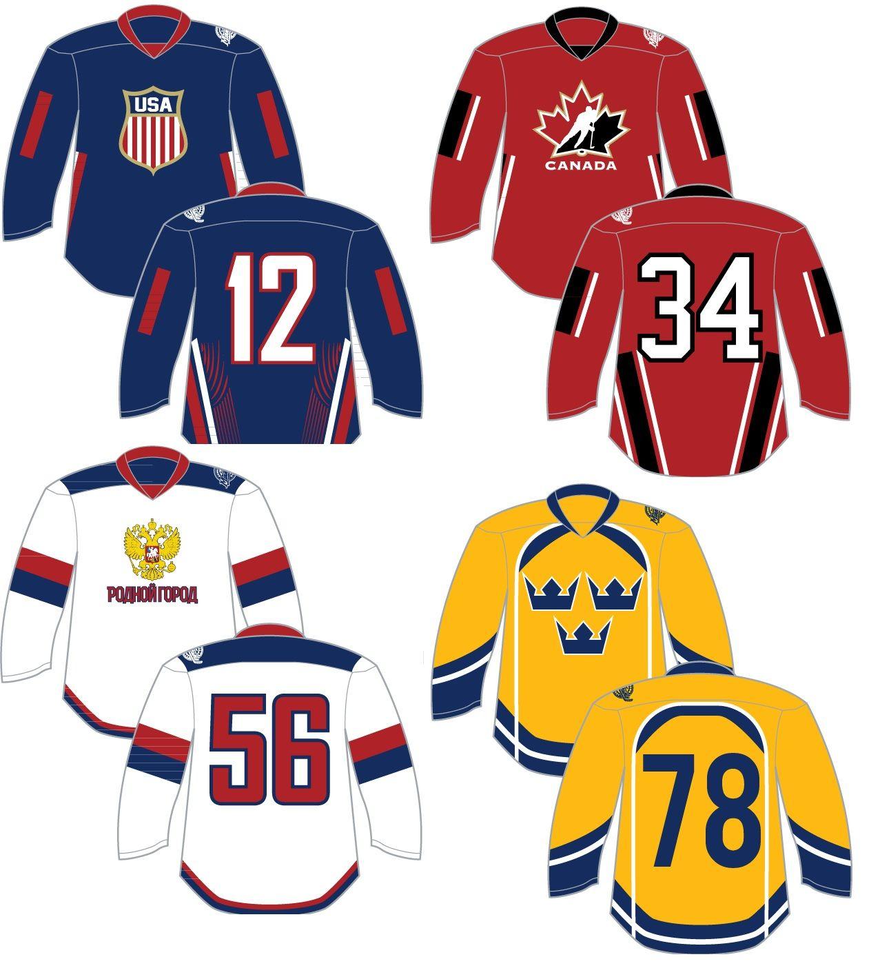 Model Your Spring Jerseys After Your Favorite Nation Hometown Hockey Did Usahockey Canadahockey Russiah Jersey Design Custom Jerseys Custom Hockey Jerseys