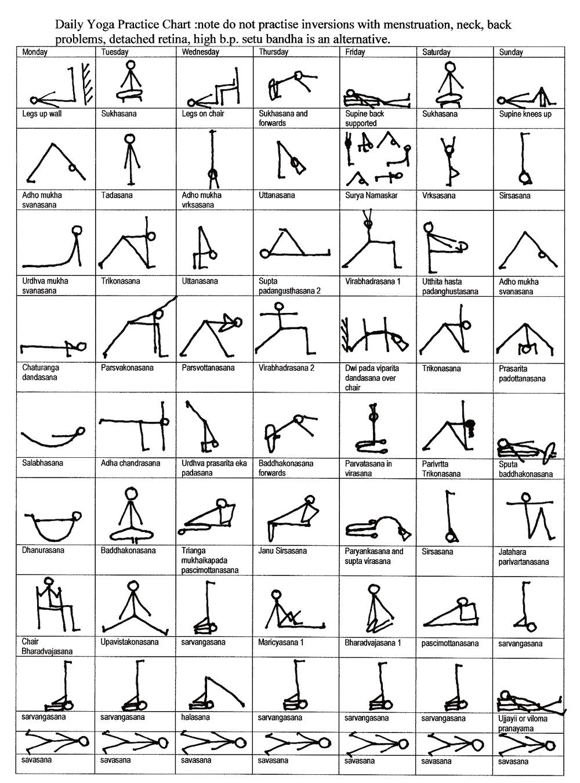 Printable chair yoga poses -  Health Infographics Daily Yoga Practice Chart Infografia