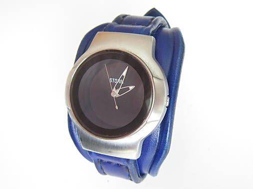 5050c16dd Modrý kožený remienok na hodinky STORM / leon | Veci na oblečenie