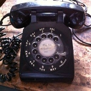 VINTAGE BLACK BELL SYSTEM WESTERN ELECTRIC TELEPHONE ROTARY DIAL VERY RETRO