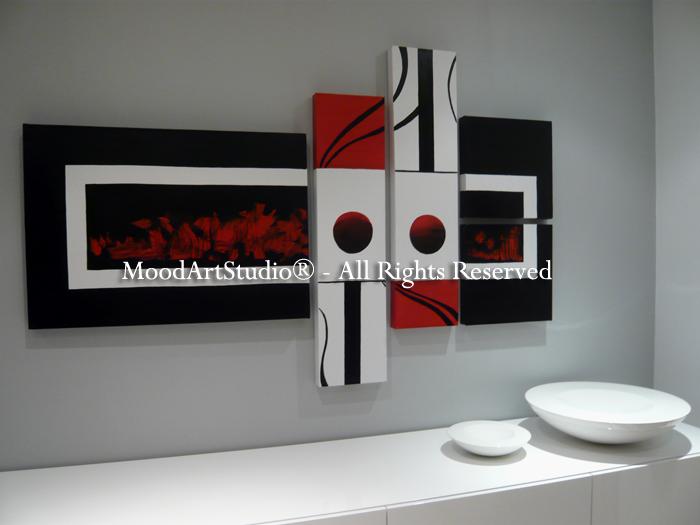 Cuadro moderno estilo minimalista en rojo negro y blanco preciosa foto de nuestro high walking - Cuadros estilo moderno ...