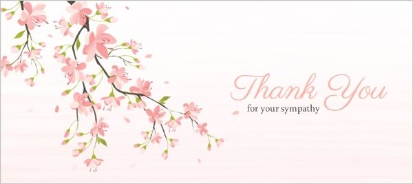 Beautiful Cherry Blossom Sympathy Thank You  Sympathy Thank You