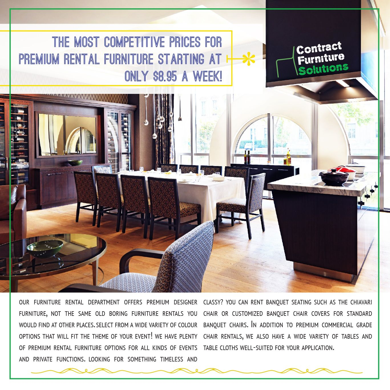 Contract Furniture Solutions Is Proud To Bring To You Our Commercial  Furniture Rental Department For Restaurants
