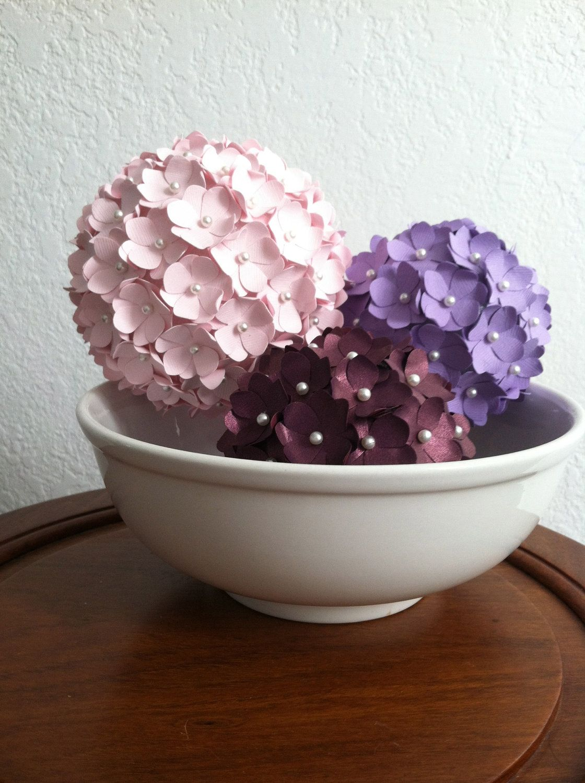 Set of 3 paper flower pomander balls 5500 via etsy set of 3 paper flower pomander balls 5500 via etsy mightylinksfo