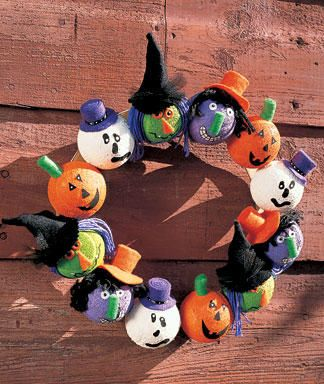 Cute Halloween Wreath Each child can decorate a head or two or - cute halloween diy decorations