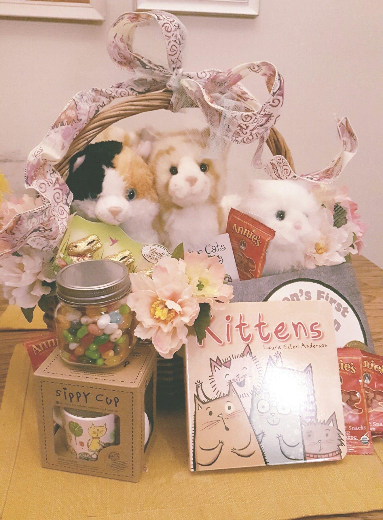 Easter basket ideas for the little girls who love kittens