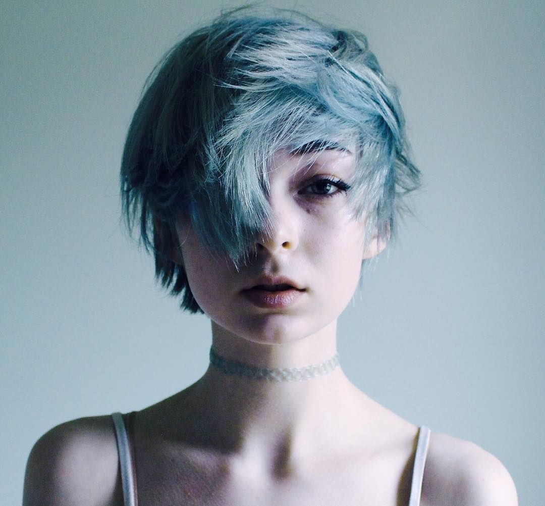 Everything was blue hair pinterest hair hair styles and short