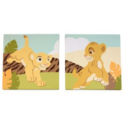 Disney® Lion King 2-Piece Simba Wall Art Set - BedBathandBeyond.com
