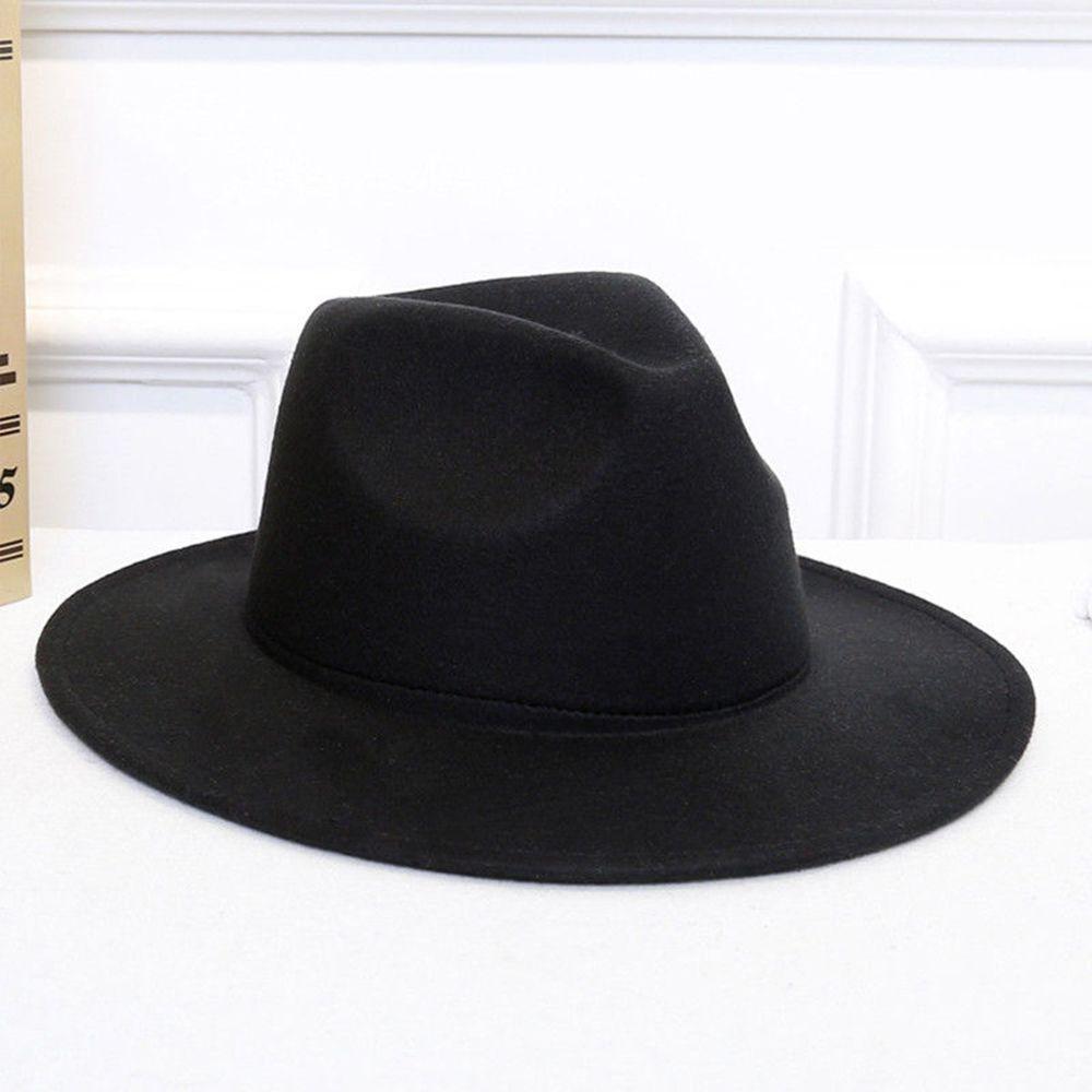 fb7b6a4768 Fashion Men Women Sun Hat Fedora Wide Cap Brim Floppy Cloche Hat ...