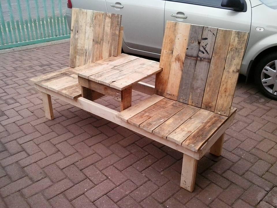 Wonderful Pallet Double Chair Bench Design