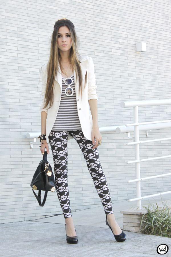 Skull pants are definite rocker chic style  | Bad Girl
