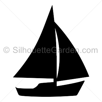 Sailboat Silhouette Silhouette Painting Boat Silhouette Sailboat Art