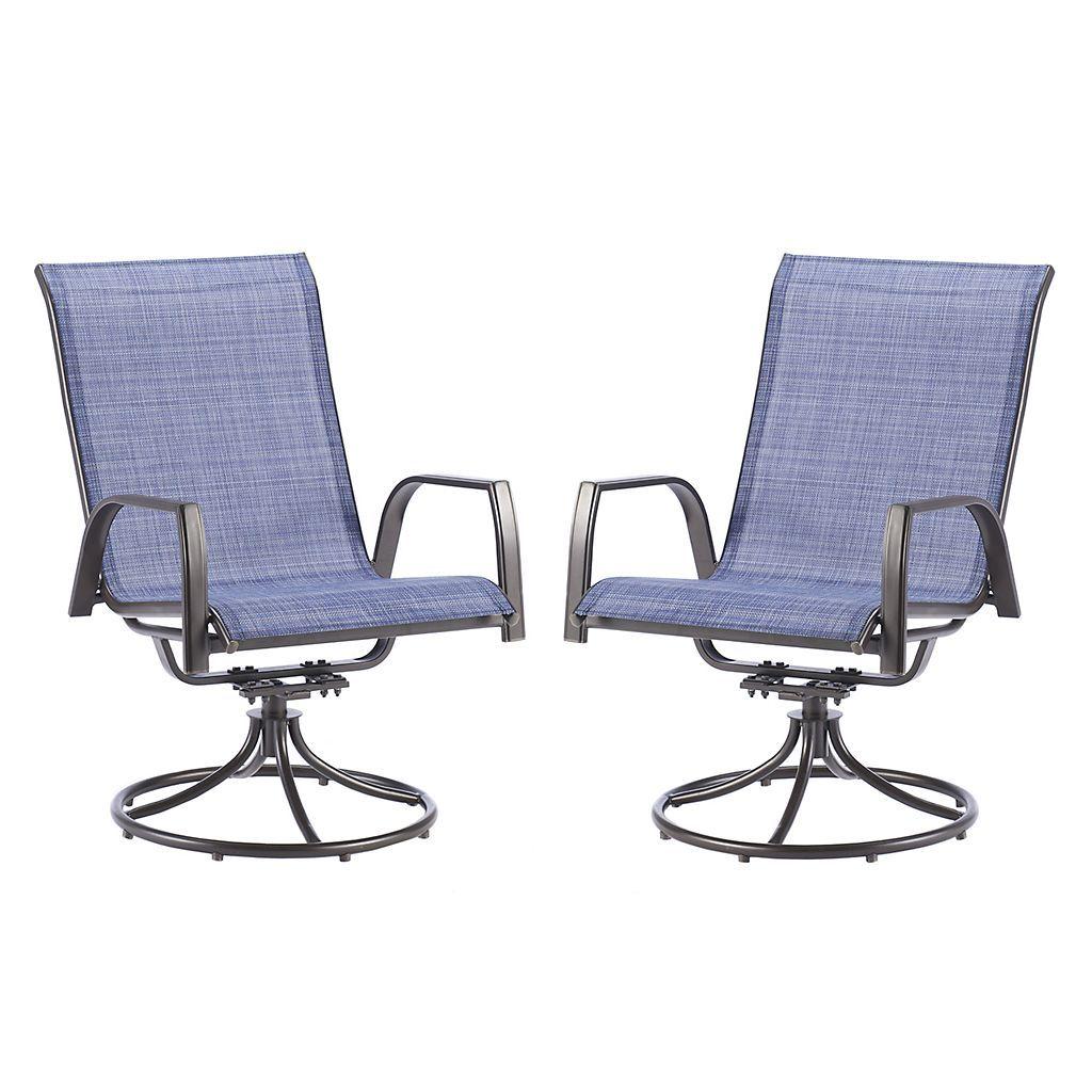 sonoma goods for life coronado swivel sling patio chair 2 piece set rh pinterest com 4 Sling Swivel Patio Chairs Two Swivel Sling Patio Arm Chair