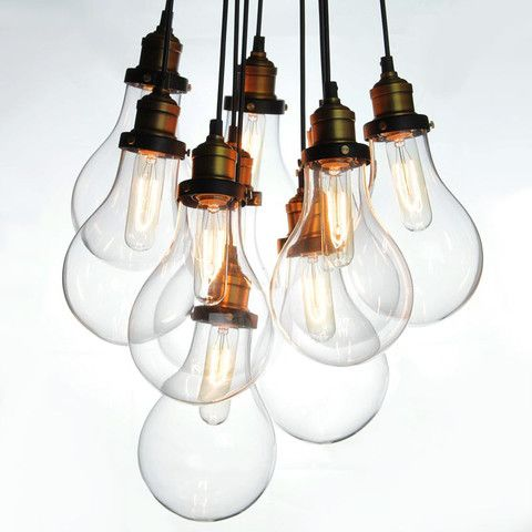big bulbs cluster pendant light chandelier koperen verlichting eetkamer verlichting verlichting ideen industrile