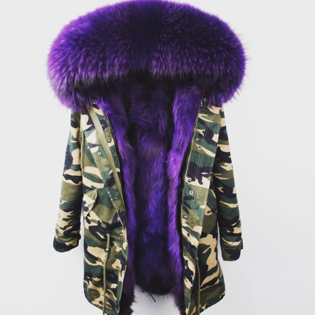 Askimo On Instagram Signature Parka Army With Purple Fur Askimo Kinda Cold Out Here Parka Fashion Outerwear [ 1080 x 1080 Pixel ]