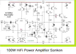 100w hifi power amplifier circuit with sanken motor drive rh pinterest com