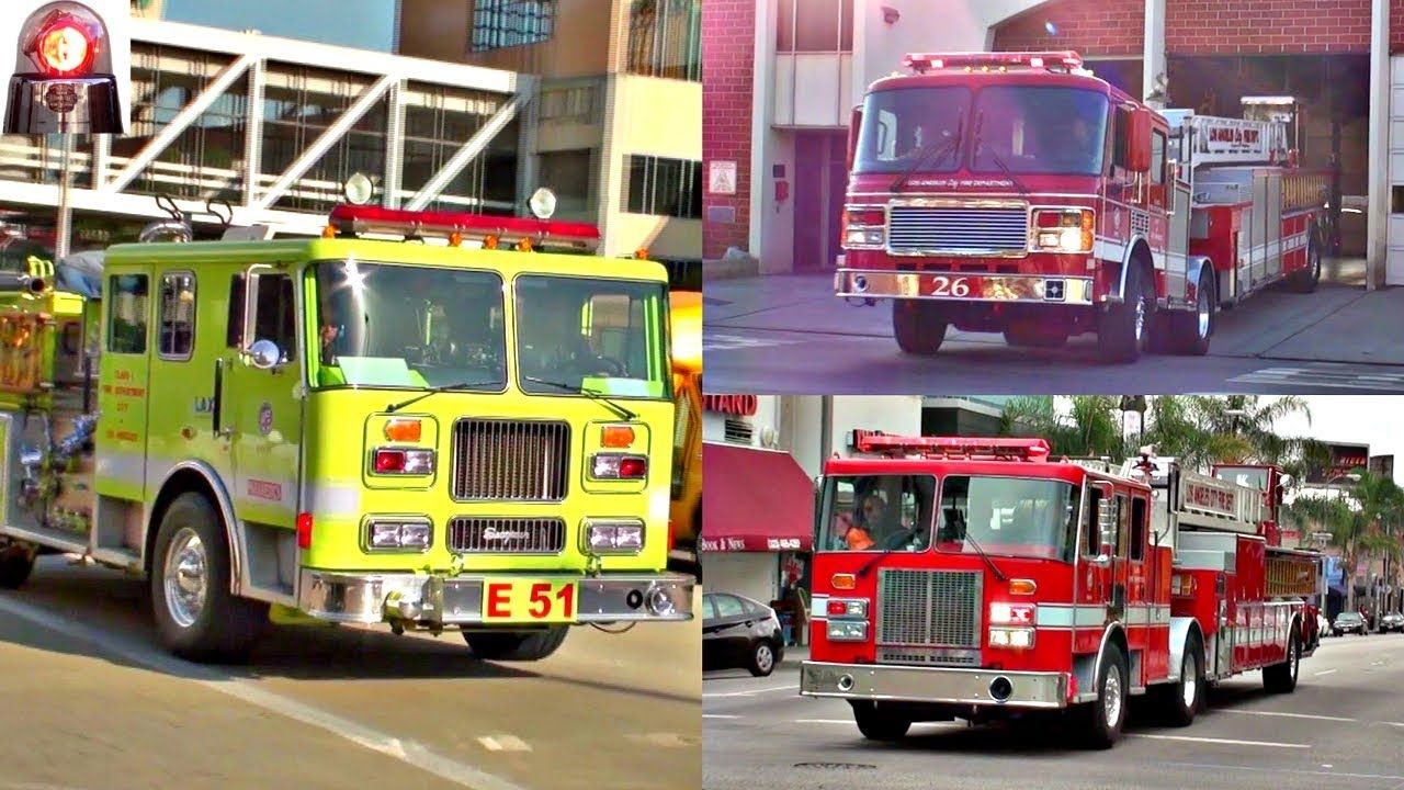 Fire Trucks & Engines Responding Compilation Sirens, Air