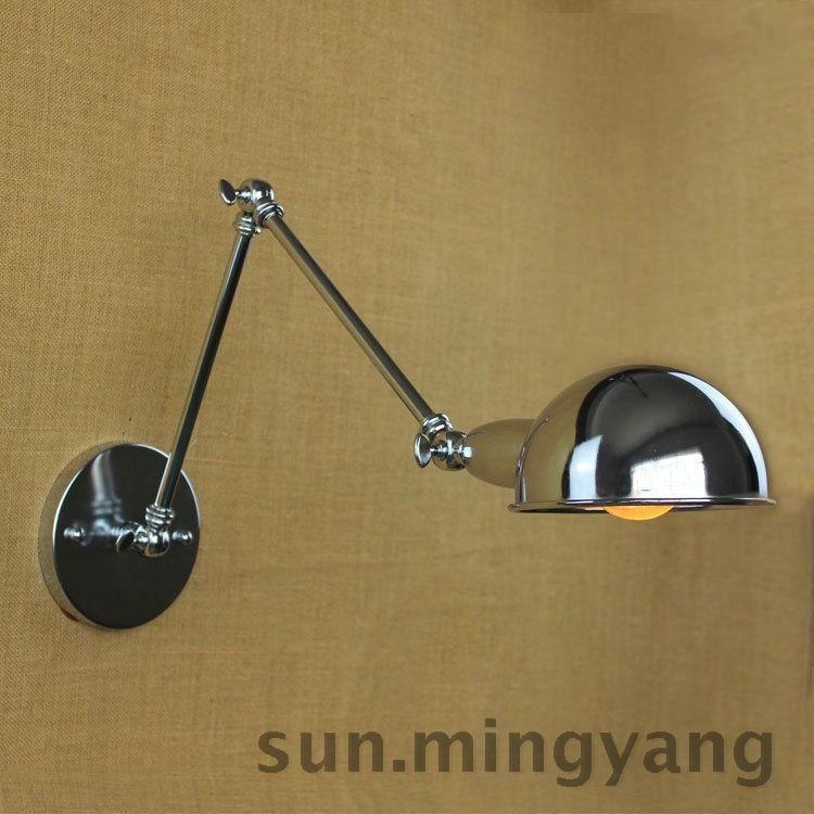 Retro Loft Industrial Swing arm Chrome-colored Ceiling light Wall lamp Fixture #UnbrandedGeneric #Modern