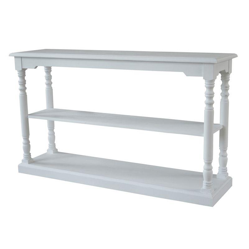 Bon Stilfult Konsollbord I Hvitmalt Heltre Og Er 145 Cm Bred, 40 Cm Dyp Og 85