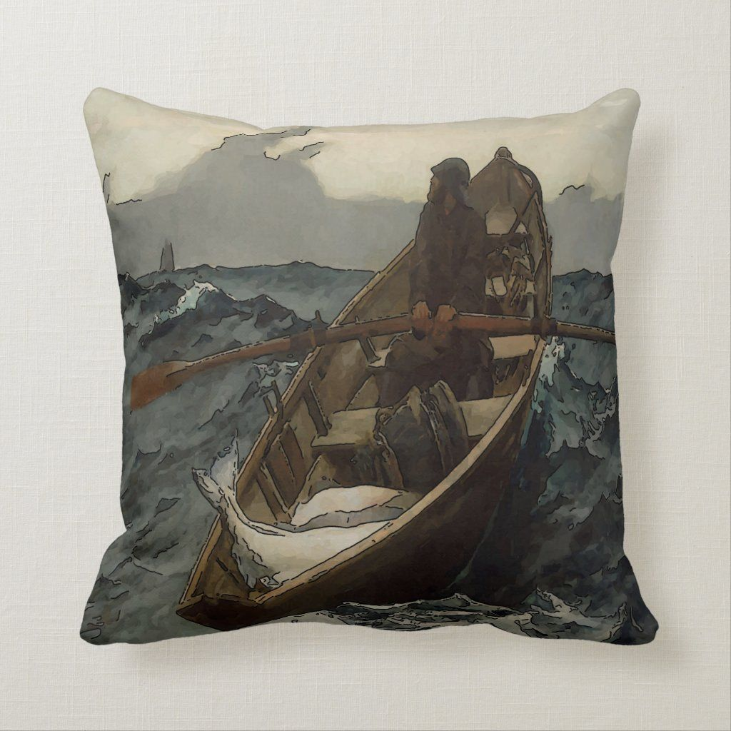 Fisherman Old Man Throw Pillow Zazzle Com In 2020 Throw Pillows Man Pillow Pillows