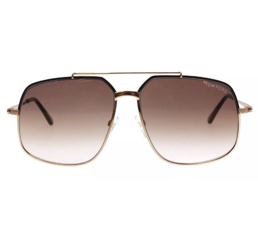 f3b817adf247 TOM FORD Ronnie Aviator Sunglasses TF43948F Gold Brown Gradient Lens Retail   395  fashion