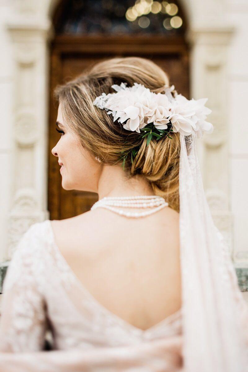 Brautfrisur mit Schleier: 30 Inspirationen (mit Bildern