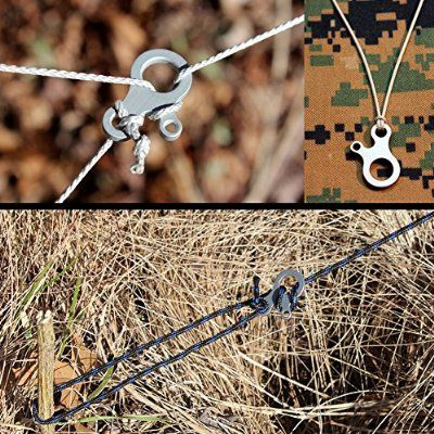 YSTD® 2pcs EDC 3 Hole Survival Buckle Multi-purpose CNC Stainless Steel Outdoor Knotting Tool New