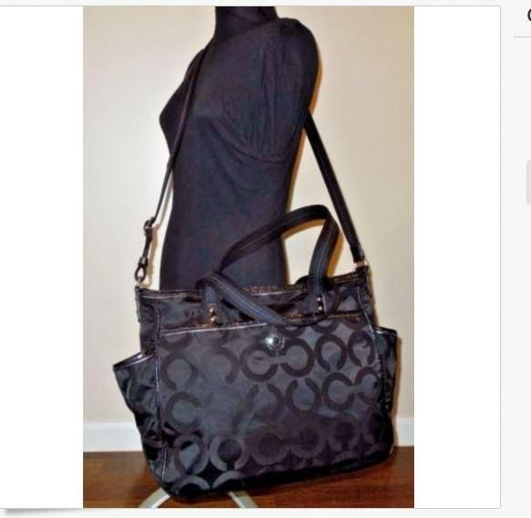 2c413e9697 Coach In Excellent Condition Black Diaper Bag. You'll be a hot mamma with  this Coach In Excellent Condition Black Diaper Bag! Tradesy moms voted this  diaper ...