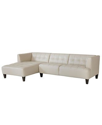 Brilliant Alessia Leather Sectional Sofa 2 Piece Chaise 109W X 65D Andrewgaddart Wooden Chair Designs For Living Room Andrewgaddartcom