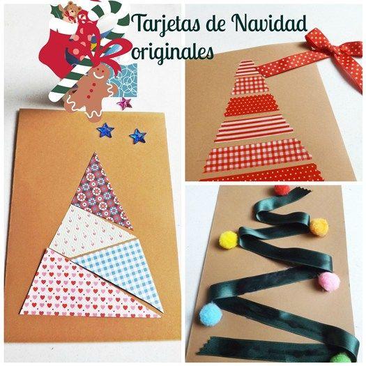 Tarjetas De Navidad Originales Hechas A Mano 1 Navidad Pinterest - Tarjeta-de-navidad-original