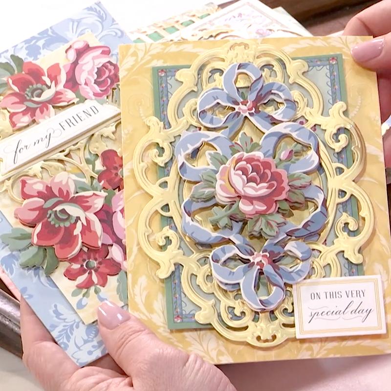 Painted Garden Decoupage Anna Griffin Cards Anna Griffin Cute Birthday Cards