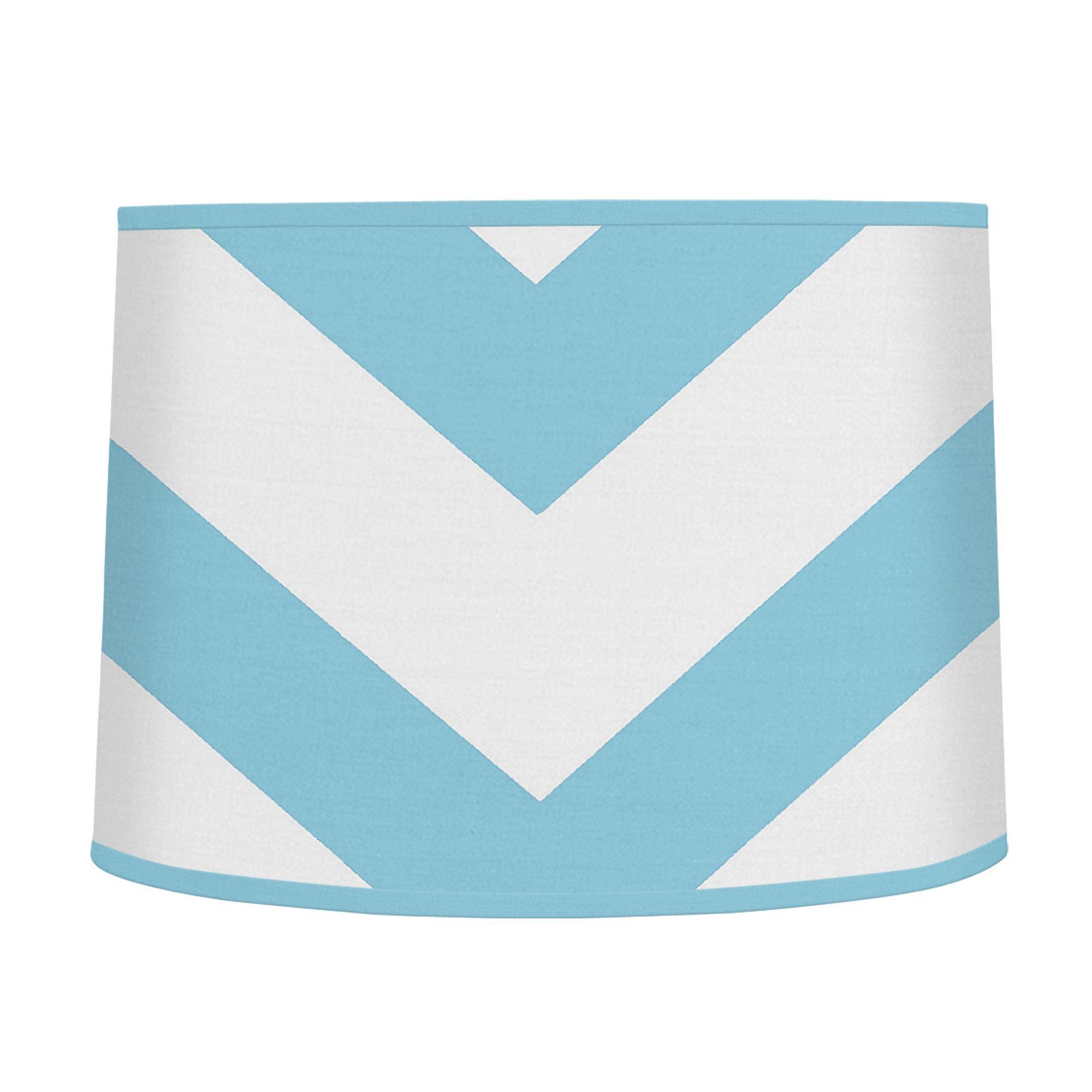 0139dfe402c0 Sweet Jojo Designs Turquoise White Chevron Lamp Shade (Turquoise and ...