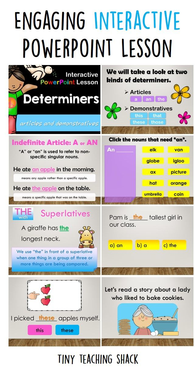 Determiners Interactive Powerpoint Lesson Powerpoint Lesson