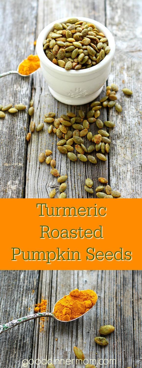 Turmeric Roasted Pumpkin Seeds – Good Dinner Mom