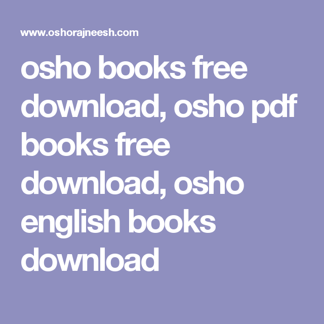 Osho Books Free Download Osho Pdf Books Free Download Osho English