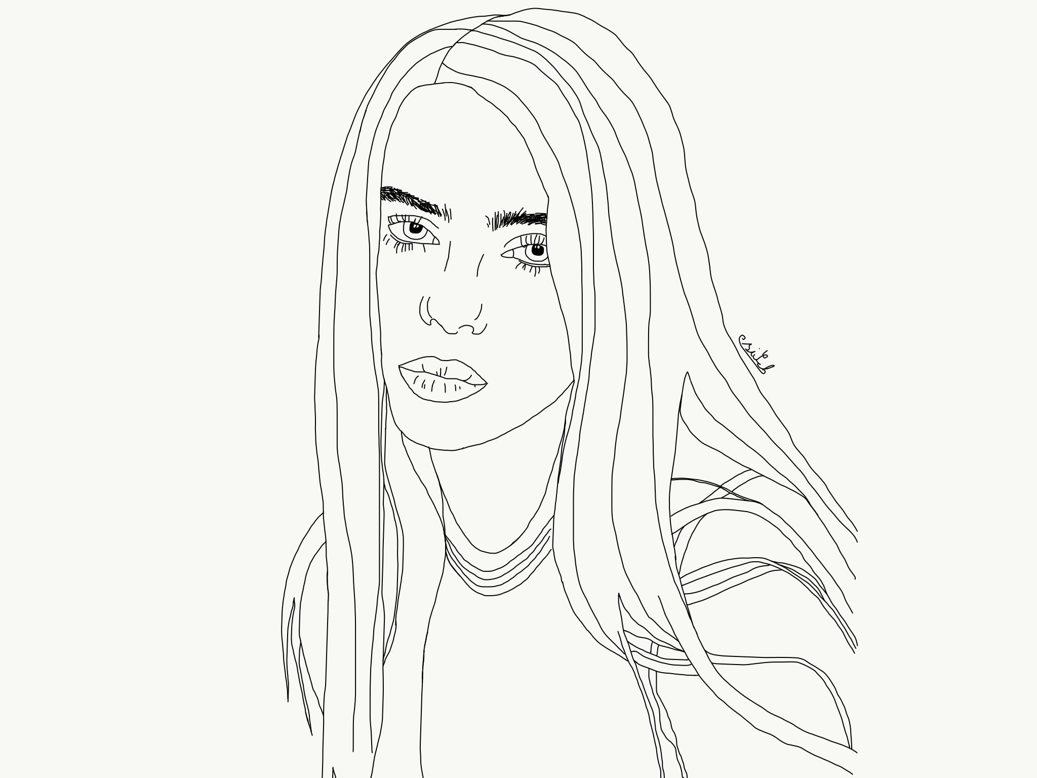 Billie Eilish Billie Eilish Billie Art Drawings