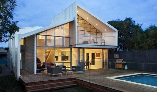 casas modernas 2 aguas