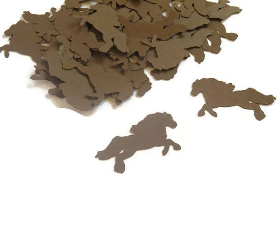 Horse Confetti  Kids Birthday Party Supplies  100 by CoolestCuts, $4.00