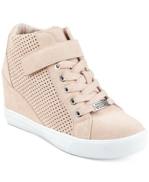 Guess Guess Women's Flowurs Wedge Sneakers Women's Shoes from Macys | Shop