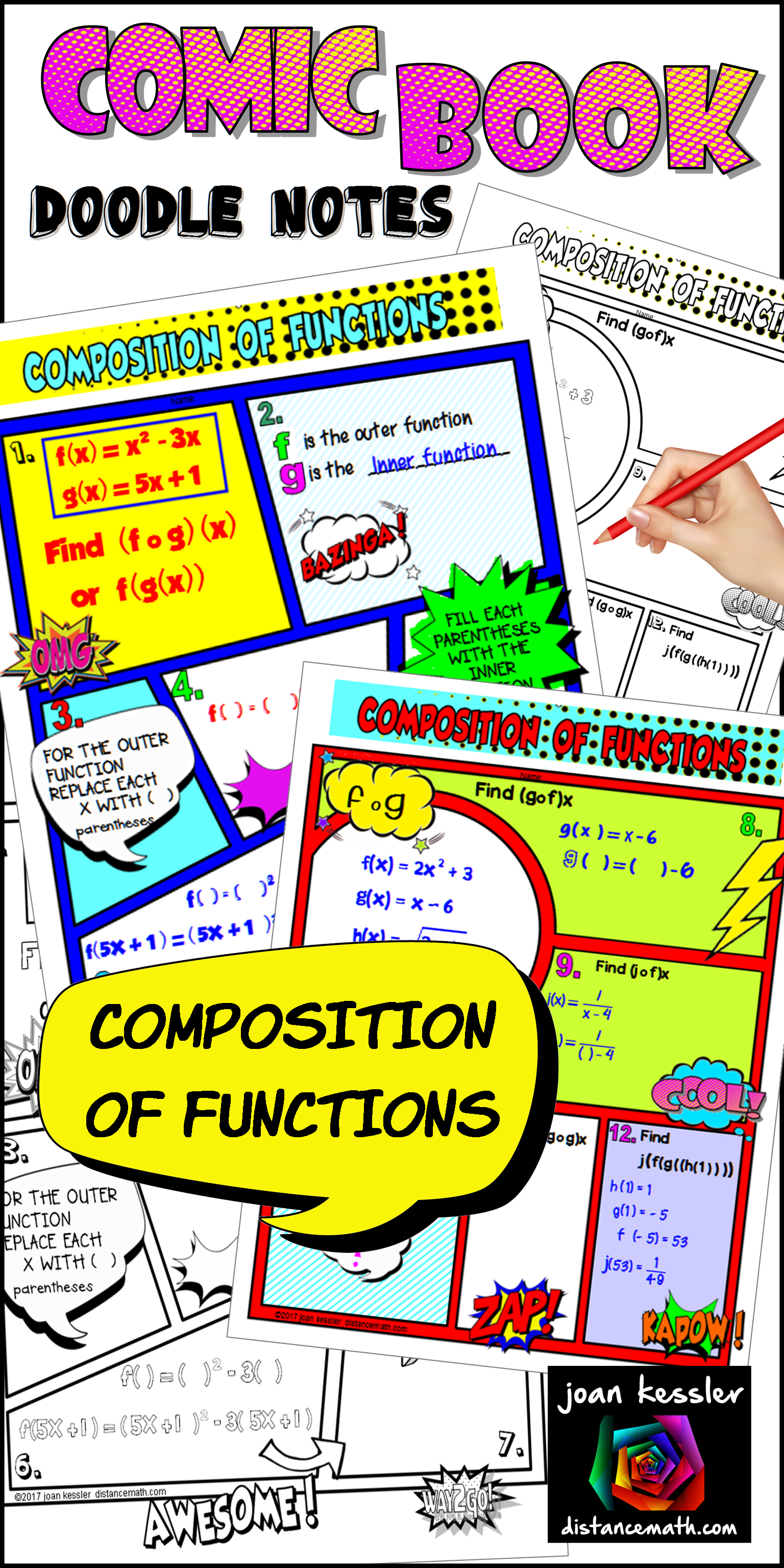 Composition Of Functions Fun Notes And Practice For