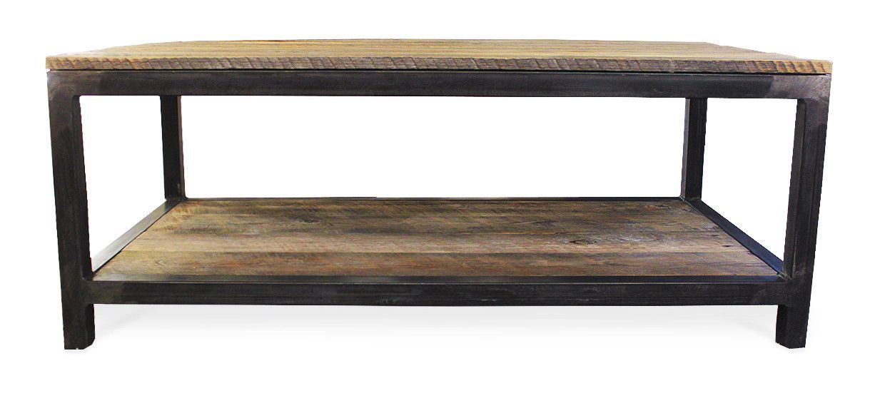 Best Reclaimed Wood And Metal Coffee Table Two Tier Wood 400 x 300
