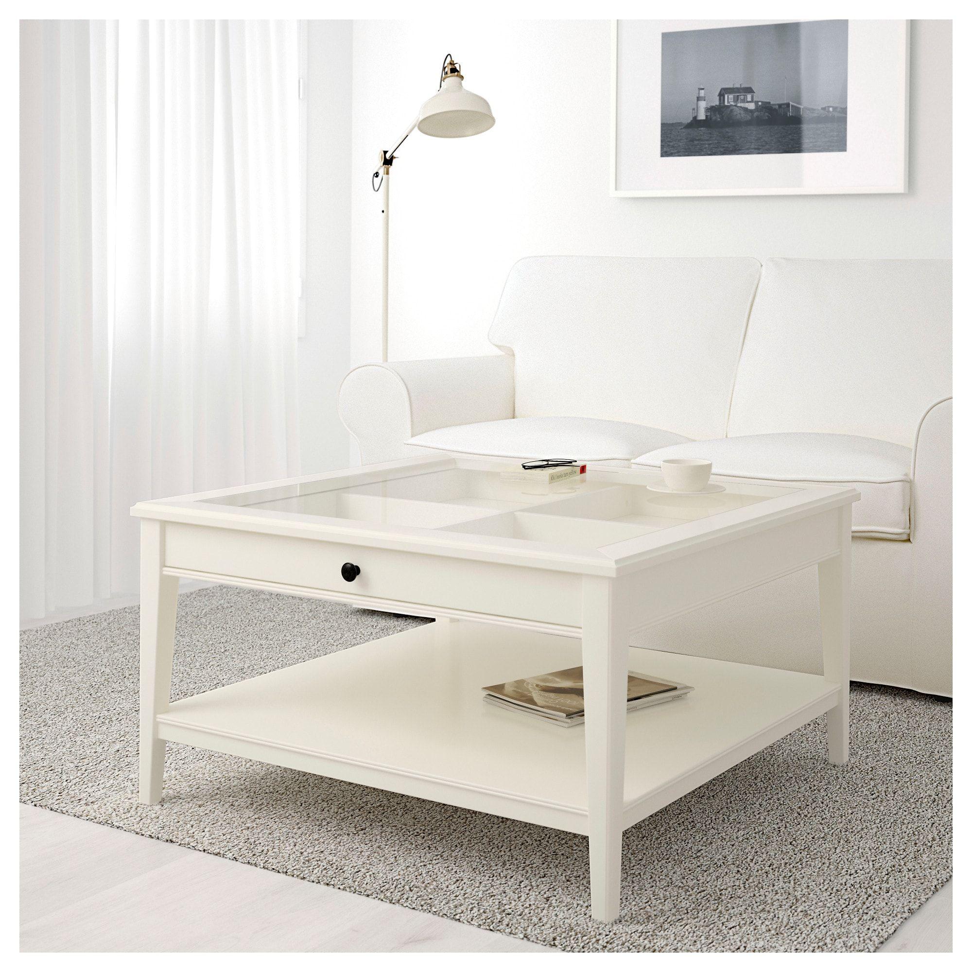 Liatorp Coffee Table White Glass 36 5 8x36 5 8 Tavolino Da