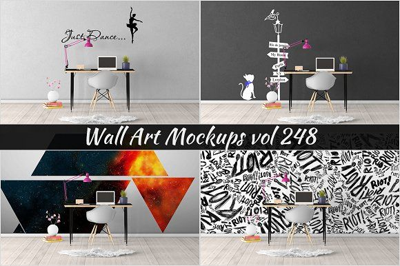 Wall mockup sticker mockup vol 248 graphics wall mockup sticker wall mockup