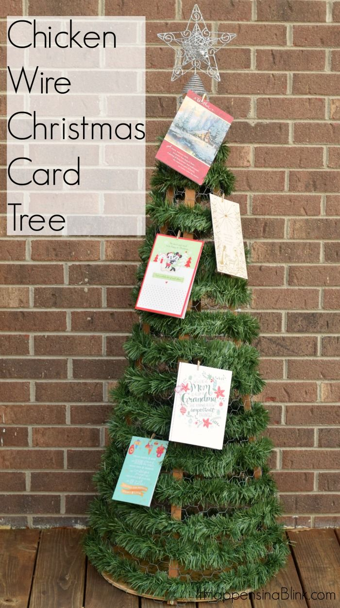 Superbe Create A DIY Chicken Wire Christmas Card Tree From Inexpensive Supplies To  Display Greeting Cards.