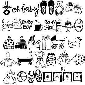 Baby Stuff Baby Scrapbook Simple Doodles Doodle Drawings