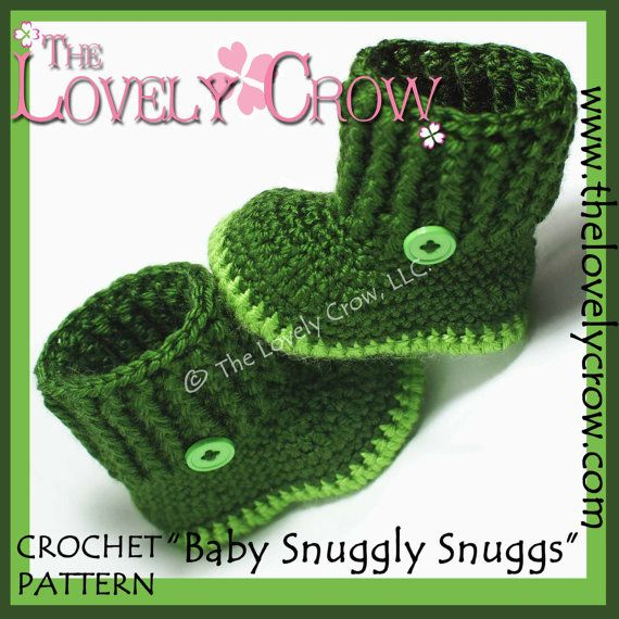 Baby Boots Crochet Pattern BABY SNUGGLY SNUGGS digital | botas ...