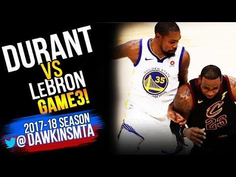 c8d0e301f74 Kevin Durant vs LeBron James EPiC Duel in 2018 Finals GM3 - LBJ With  33-10-10 KD With 43-13-7!