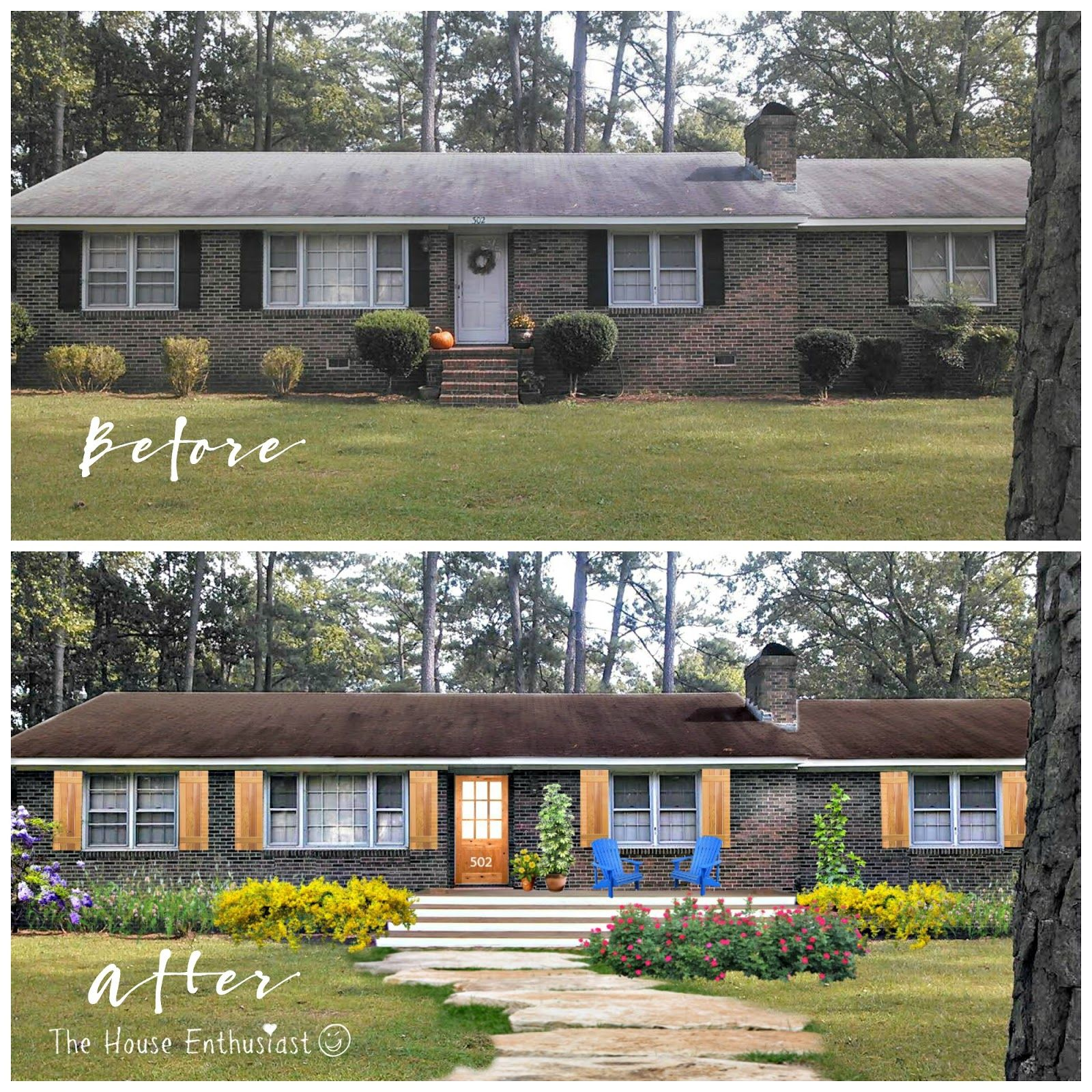 Brick Ranch House Before and After