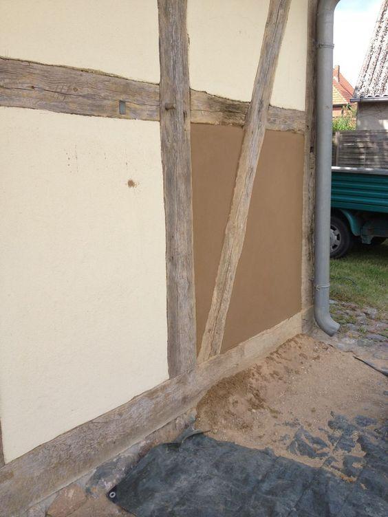 Fachwerkhaus Sanierung Lehmputz Mit Leinolfirnis Beseitigung Von