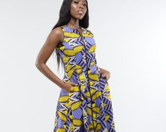 Ankara maxi dress/ african print maxi dress/ long african dress/ african clothing/ African dress/ Ankara evening dress - Marie Maxi Butter #africanprintdresses
